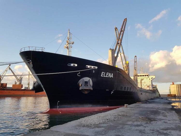 """El buque """"Elena"""", visto por la amura de babor"""