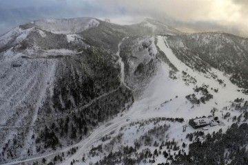 La estación de esquí se encuentra junto al volcán Kusatsu-Shirana