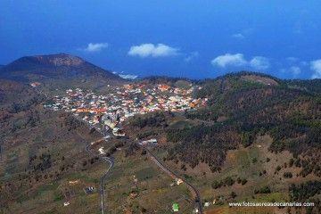 Panorámica aérea del barrio de Los Canarios, núcleo principal de Fuencaliente