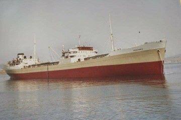 """Estampa marinera del petrolero """"Hespérides"""", primero de su nombre en la historia de Naviera Petrogás"""