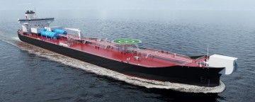 """Esta será la apariencia exterior de los nuevos """"shuttle tankers"""" de Teekay"""