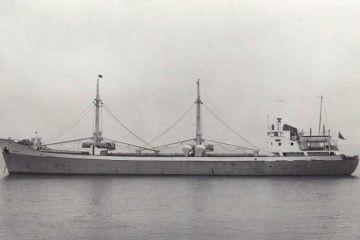 """Estampa marinera del buque """"Libra"""", tras su fletamento por Naviera Lagos"""