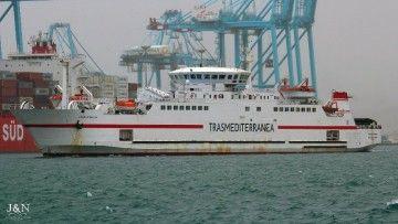 """La imagen de la chimenea del buque """"Ciudad de Málaga"""" ha sido modificada"""