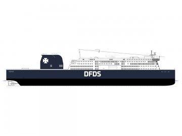 Este será el aspecto exterior de los futuros ro-pax de DFDS