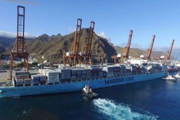 La llegada de Maersk ha catapultado el tráfico de TEUS en el puerto de Santa Cruz de Tenerife
