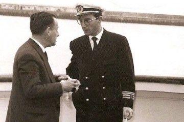 """A bordo del """"Astorga"""", en la presentación del buque en Santa Cruz de Tenerife"""