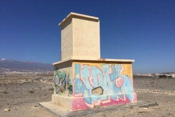 Estado en el que se encuentra la antigua torre de control del aeródromo de El Médano