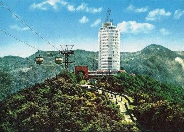 El hotel Humboldt, en su apogeo, en una postal de la época