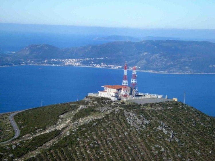 Panorámica aérea del CCS de Finisterre