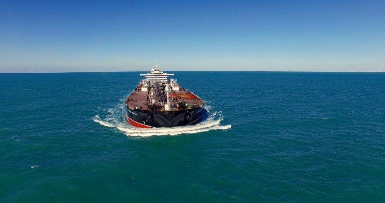 """El petrolero """"Monte Udala"""", en sus pruebas de mar"""