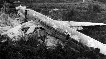 """Estado en el que quedó el avión DC-8 de Iberia EC-BMX """"El Españoleto"""""""