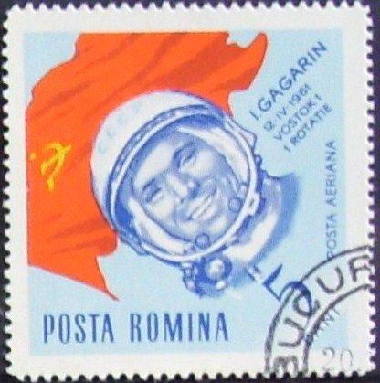 Filatelia de la URSS recordando el heroico primer viaje al espacio de Yuri Gagarin