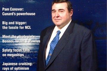 """Fernando Guerrero Hernán, portada de la revista """"Seatrade Cruise Review"""" (marzo 2000)"""