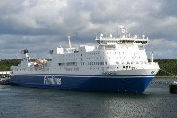 "Estampa marinera del buque ""Finnclipper"""