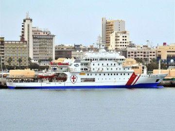 """Imagen del buque """"Esperanza del Mar"""", atracado en el puerto de Las Palmas de Gran Canaria"""
