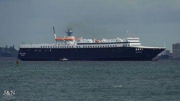 """El ferry marroquí """"Med Star"""", a su llegada a la bahía de Algeciras"""