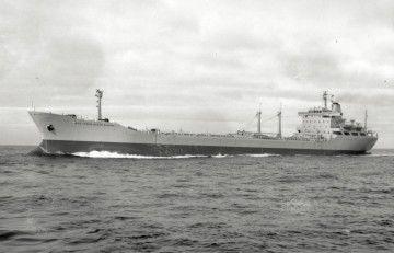 """El petrolero ROU """"Presidente Rivera"""", en pruebas de mar"""