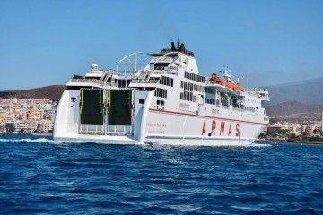 """El ferry """"Volcán de Taburiente"""" volverá el domingo a la línea de La Gomera y La Palma"""