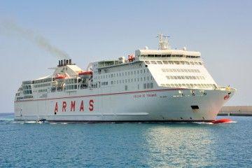 """Por su capacidad, el buque """"Volcán de Tinamar"""" resulta ideal para Baleares"""