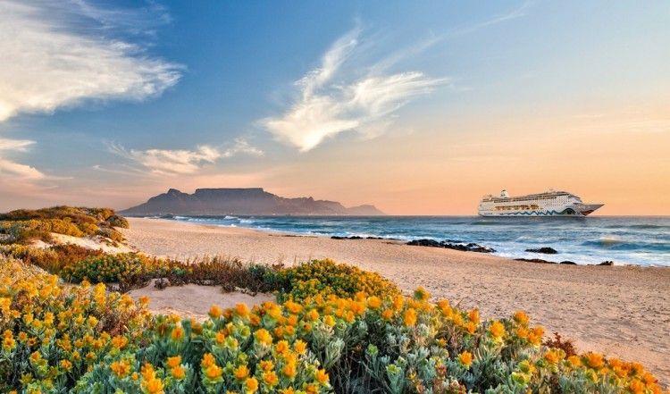 """El buque """"AIDAmira"""" realizará viajes turísticos desde Ciudad del Cabo"""