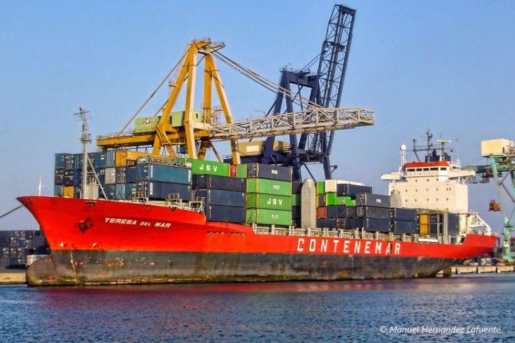 """El buque """"Teresa del Mar"""", atracado en el puerto de Valencia"""