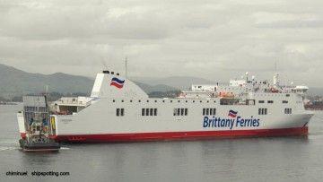 """El buque """"Connemara"""" luce la imagen corporativa de Brittany Ferries"""