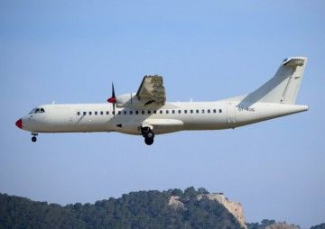Este es el avión ATR-72 objeto de la polémica, matrícula OY-RUG