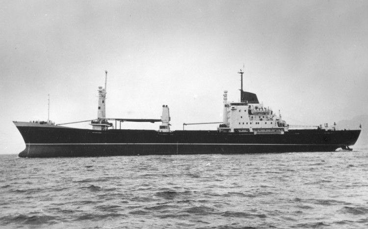 """Estampa marinera del buque """"Galeona"""", visto por la banda de babor"""