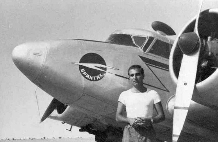 Constantino Rubio Lorenzo, en sus primeros años de aviador