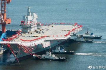 El primer portaaviones construido en China comienza su largo periplo de pruebas