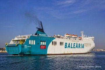 "Balearia posiciona el buque ""Denia Ciurtat Creativa"" en la línea Málaga-Melilla"