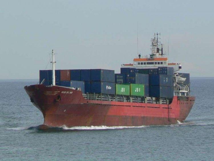 """Estampa marinera del buque """"Hilde del Mar"""""""