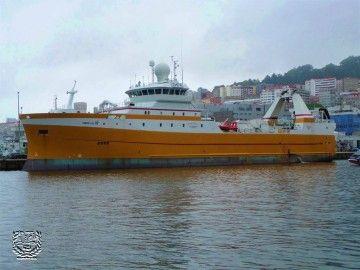 """El buque """"Kirkella"""" se encuentra en Vigo, donde se procederá a su abanderamiento"""