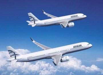Aegean opera una flota exclusiva de aviones de la familia Airbus A320
