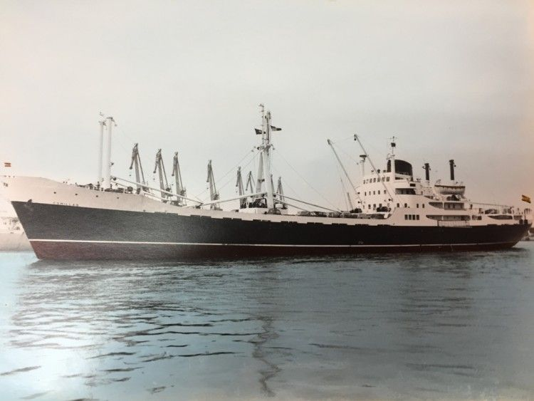 """""""Comillas"""", uno de los barcos de Trasatlántica adscritos a la línea del Caribe"""