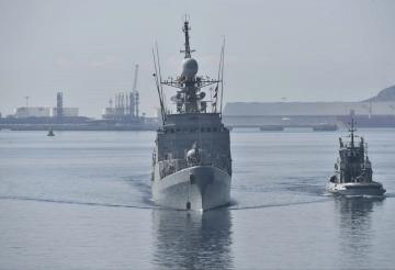 """El patrullero de altura """"Infanta Elena"""", a su llegada esta mañana a Cartagena"""