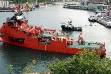 "Estampa marinera del buque ""Esvagt Dana"""