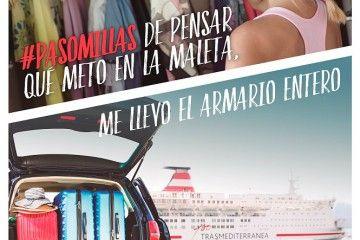 Uno de los carteles de la campaña veraniega de Trasmediterránea