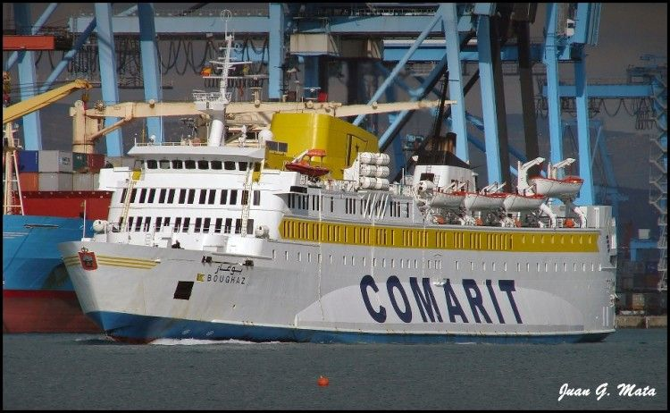 """El ferry marroquí """"Boughaz"""", en el puerto de Algeciras"""