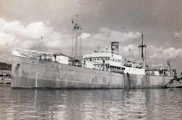 """El buque """"Aragón"""", en sus últimos años de mar"""