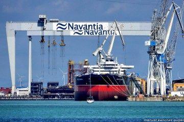 """El petrolero """"Monte Urbasa"""" se encuentra ultimando detalles en el astillero de Puerto Real"""