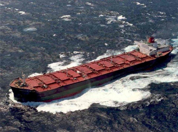 """Estampa marinera del buque """"Castillo de La Luz"""""""