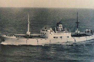 """El buque """"Esla"""", cruzando el canal de La Mancha"""