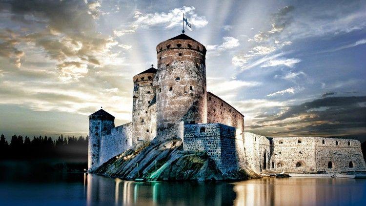 Espectacular imagen del castillo de Olavinlinna