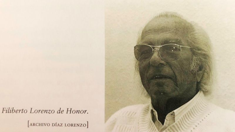 Filiberto Lorenzo de Honor, cuando le entrevistamos en su casa de Puerto de la Cruz (1992)