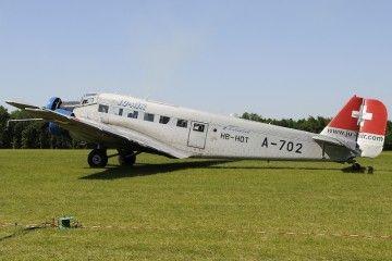 Este es el avión accidentado en los Alpes de Suiza central