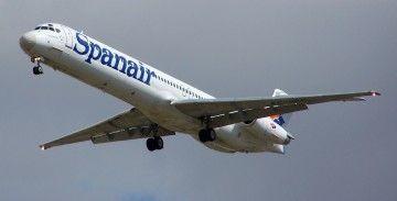 Este era el avión MD-82 de Spanair, matrícula EC-HFP