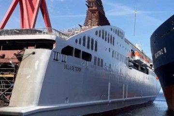 """El ferry """"Villa de Teror"""" se encuentra en la recta final previa a su entrega"""