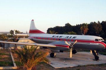 El avión restaurado se encuentra en el Museo del aeropuerto de Málaga