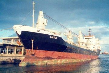 """El buque """"Siroco"""", atracado en el puerto de Las Palmas"""